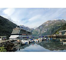 Celebrity Eclipse - Geiranger Photographic Print