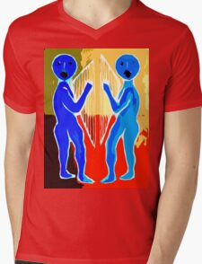 HARP AND SONG Mens V-Neck T-Shirt
