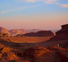 Wadi Rum Desert in Jordan - Sunset by InterfaceImages