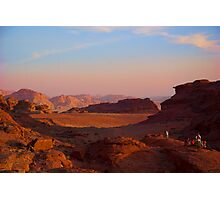 Wadi Rum Desert in Jordan - Sunset Photographic Print