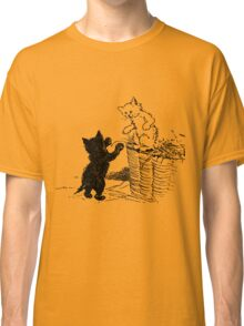 Two Kittens - Black and White  Classic T-Shirt