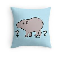 Pygmy Hippo Throw Pillow