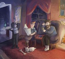 Tintin: Evening Discussion by Kittybaka