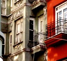 apartment houses in Istanbul neighborhood by califpoppy1621