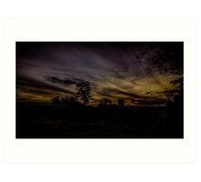 Silverdale Sunset (4)  NSW, Australia Art Print