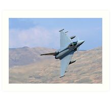 Lowflying Typhoon 02 in The Welsh Hills April 2010 Art Print