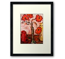 POPPIES WITH CANDLES Framed Print