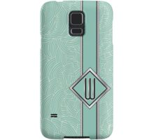 1920s Blue Deco Swing with Monogram letter W Samsung Galaxy Case/Skin