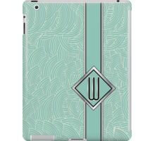 1920s Blue Deco Swing with Monogram letter W iPad Case/Skin