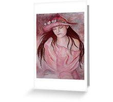 Hat Girl Greeting Card