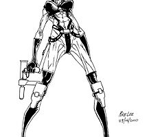 Aeon Flux - Inks by Michael Lee