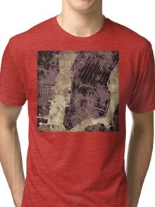 New York city map ink Tri-blend T-Shirt