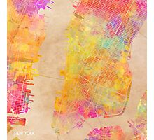 New York city map colored Photographic Print