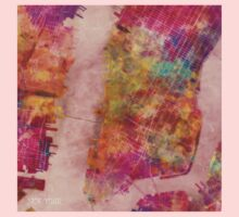 New York city map watercolor Kids Clothes