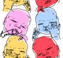 Toil and Trouble... Ugly Babies of Red Bubble Sticker