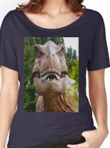 Tyrannosaurus rex with a grin Women's Relaxed Fit T-Shirt