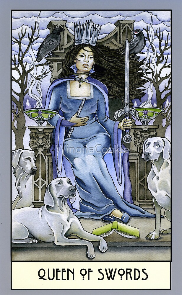 Queen of Swords, Card by WinonaCookie