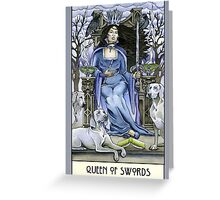 Queen of Swords, Card Greeting Card