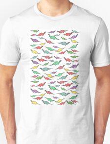 Dinosaurs (multicoloured on white) T-Shirt
