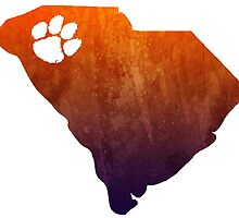 Clemson - Watercolor State by lettersBheather