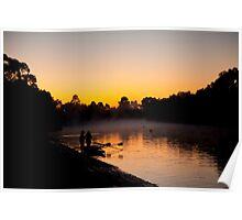 Rowers at dawn Poster