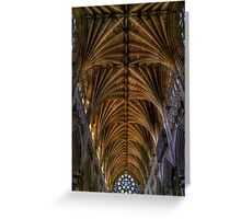 Exeter Cathedral Ceiling Greeting Card