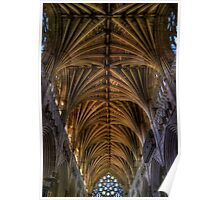 Exeter Cathedral Ceiling Poster