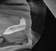 Open Heart Slot Canyon by KellyHeaton