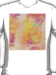 New York city map colored T-Shirt