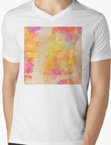 New York city map colored Mens V-Neck T-Shirt