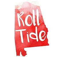 Roll Tide - Watercolor State by lettersBheather