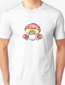 Cute family red mushrooms  T-Shirt