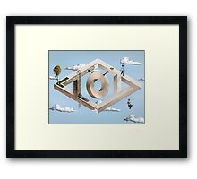 Impossible Geometric Architecture Framed Print