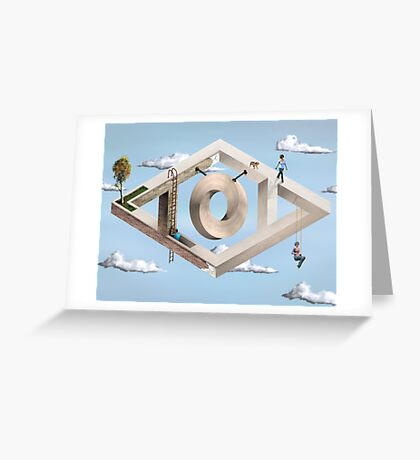 Impossible Geometric Architecture Greeting Card