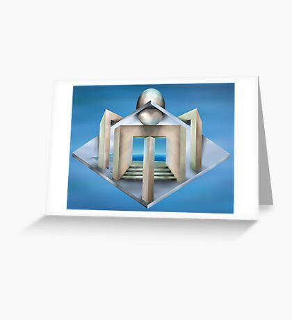 Impossible art deco structure Greeting Card