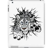 STUCK Snow Leopard (black paw pads) iPad Case/Skin
