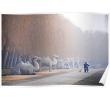 Chang Ping - 明十三陵 - Main sacred way to the Ming tombs. Poster