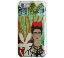 Frida and the forest's God iPhone Case/Skin