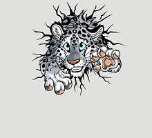 STUCK Snow Leopard (pink nose / paws) Unisex T-Shirt