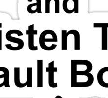 Listen to Vault Boy Sticker