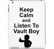 Listen to Vault Boy iPad Case/Skin