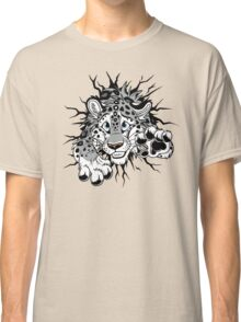 STUCK Snow Leopard (black paw pads) Classic T-Shirt