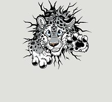 STUCK Snow Leopard (black paw pads) Womens Fitted T-Shirt
