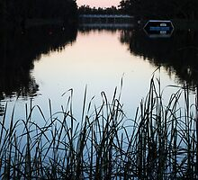 Dusk on the Loddon River by Lozzar Landscape