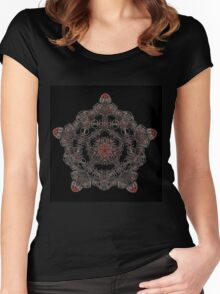 PSYCHEDELIC PETALS Women's Fitted Scoop T-Shirt