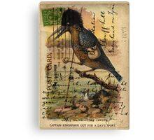 Postcard Kingfisher Canvas Print