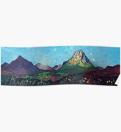 Glen Etive And Glencoe Summer, Scottish Highlands Poster