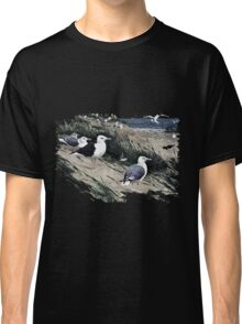 Painting of herring gulls and a Great Black-backed Gull Classic T-Shirt