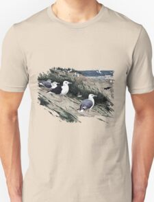 Painting of herring gulls and a Great Black-backed Gull T-Shirt