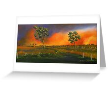 Western Sunset sold 13-9-2012 Greeting Card